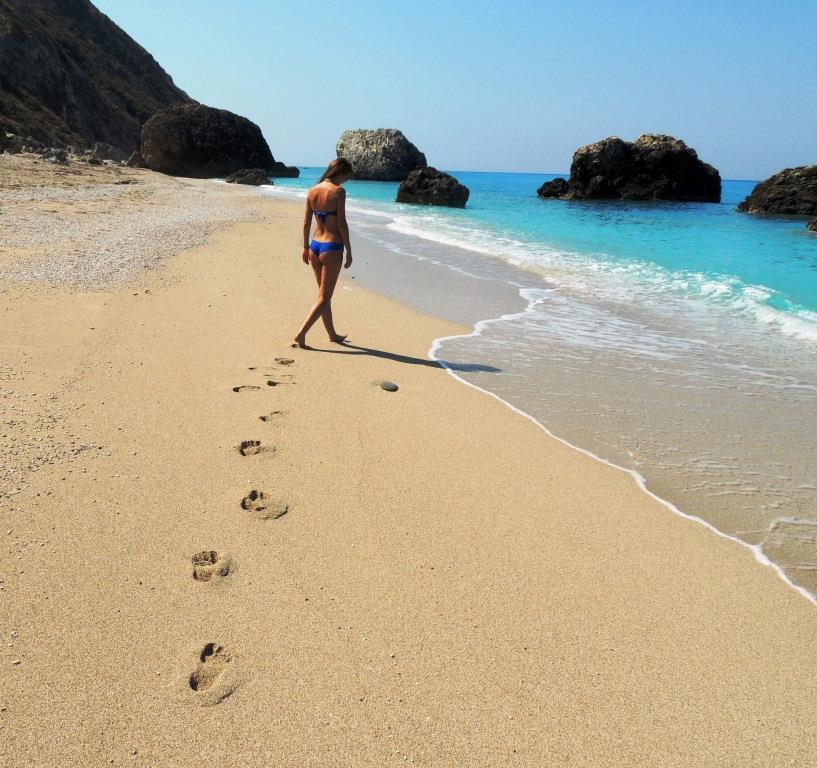 girl lefkada beach small