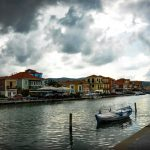 town cloudy lefkada