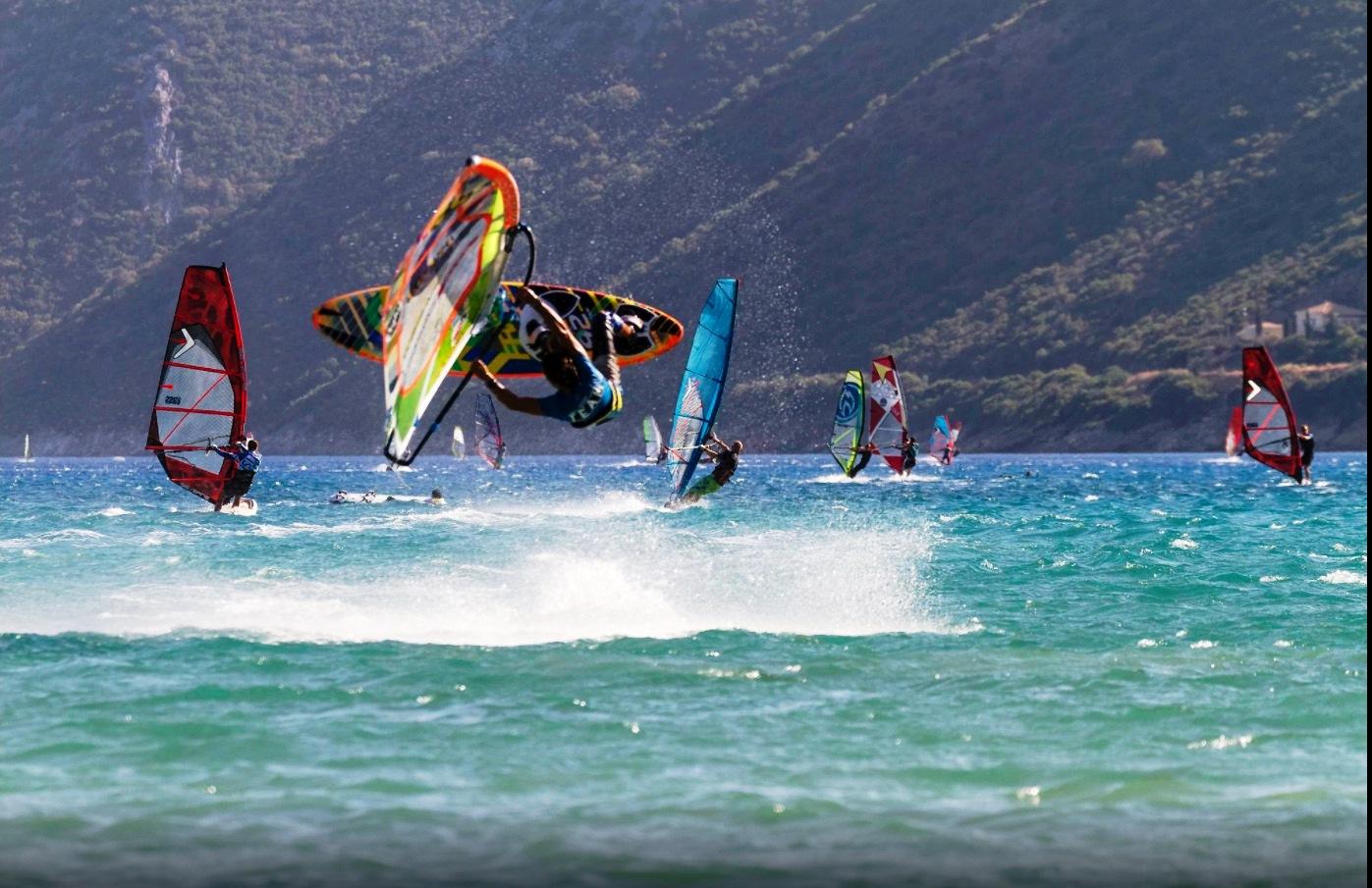 wind surfing lefkada